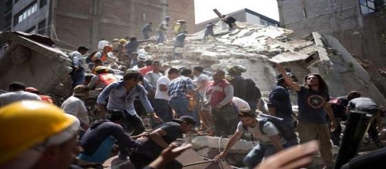 المكسيك :  زلزال قوي يضرب وسط البلاد يخالف 226 قتيلاً