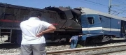 قتيل و جرحا إثر حادث إصطدام قطارين بمنطقة سيدي رزيق...