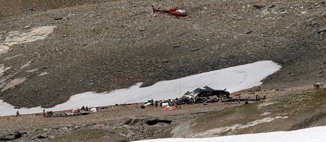 وفاة كل ركاب الطائرة العسكرية بعد سقوطها في شرق سويسرا