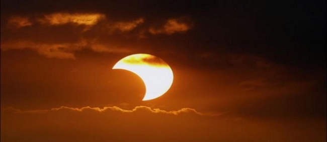 غداً كسوف جزئي للشمس