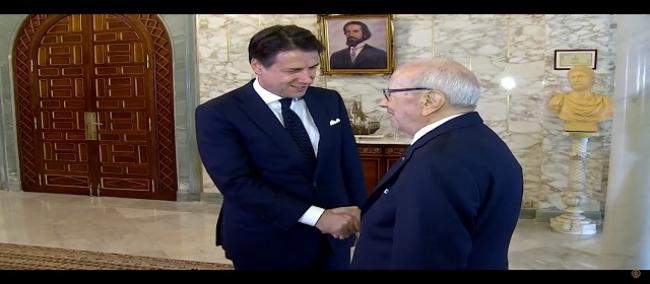 يشارك رئيس الجمهورية الباجي قايد السبسي يومي 12 و13 نوفمبر 2018 في المؤتمر الدولي - من أجل ليبيا - بمدينة باليرمو الإيطالية