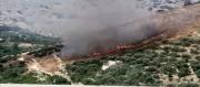 تمكنت فرق الإطفاء من إخماد حريق جبل عبد العظیم بالقصرين