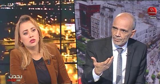 وزير التربية محمد الحامدي ضيف إيمان المداحي في برنامج يحدث في تونس مباشرة على قناة حنبعل