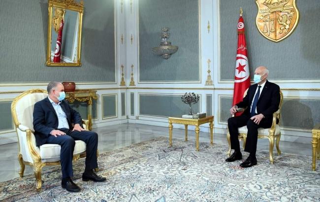 رئيس الجمهورية يستقبل أمين عام الإتحاد العام التونسي للشغل