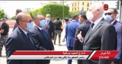 أخبار حنبعل   شارع الحبيب بورقيبة - رئيس الجمهورية يلتقي بعدد من المواطنين
